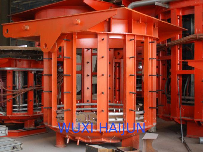 Industrial induction furnace 500HZ One / Double Motor-pump 1450mm Height