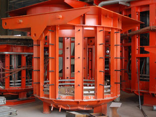 China Industrial induction furnace 500HZ One / Double Motor-pump 1450mm Height supplier